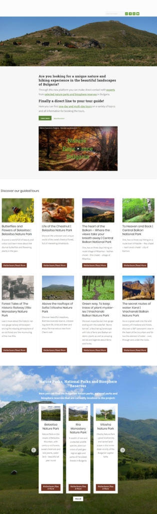 Screenshot Nature Experience Bulgaria