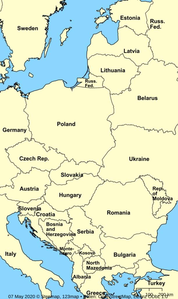 Terolog GmbH: Aktivitäten in Mittel- und Osteuropa