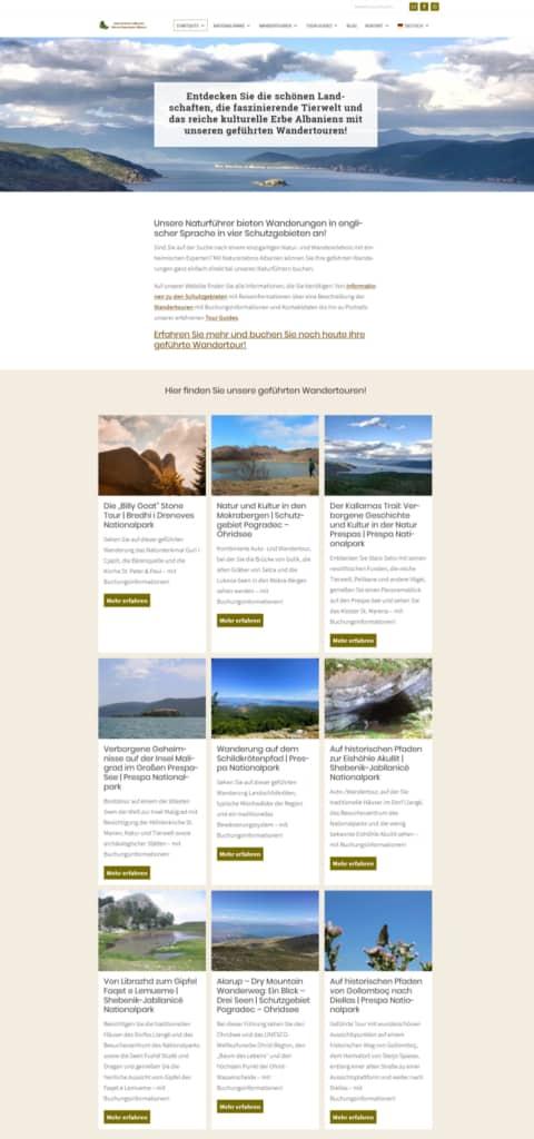 Screenshot Naturerlebnis Albanien Klein